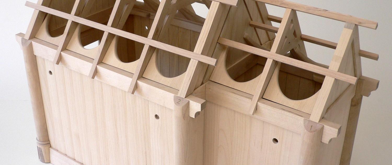 Arkitektmodell. Stavkirke byggesett