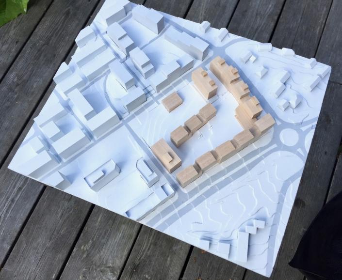 Arkitekturmodell - Sinsenveien