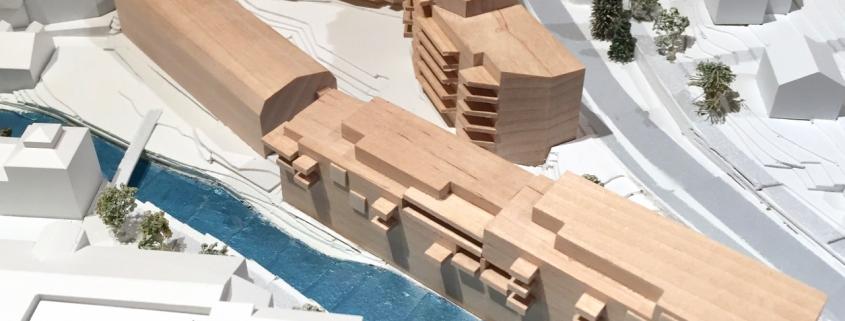 Arkitektmodell - Mesna Senter - Lillehammer