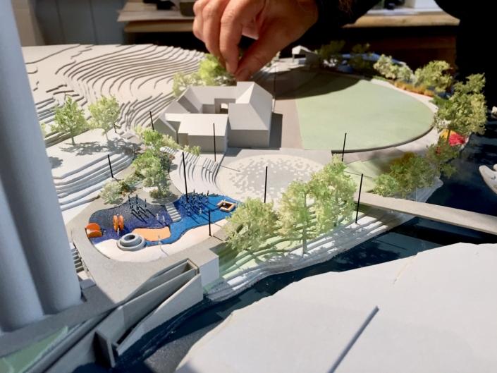 Arkitektmodell Vulkan park