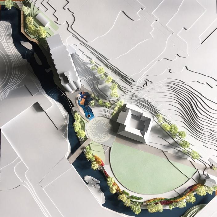 Arkitektmodell - Nedre Foss Park