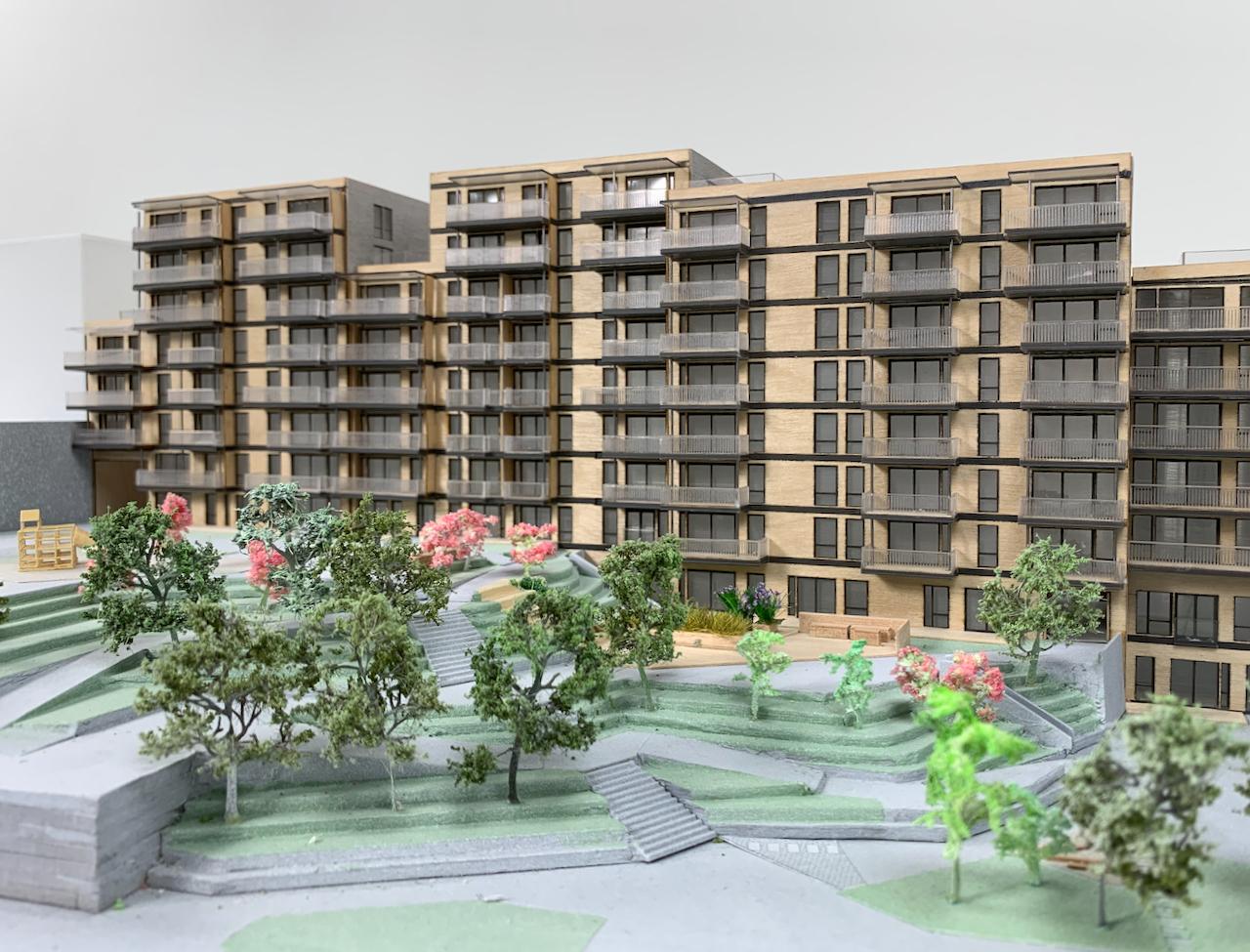 Borgen på Løren - modell i 1:200