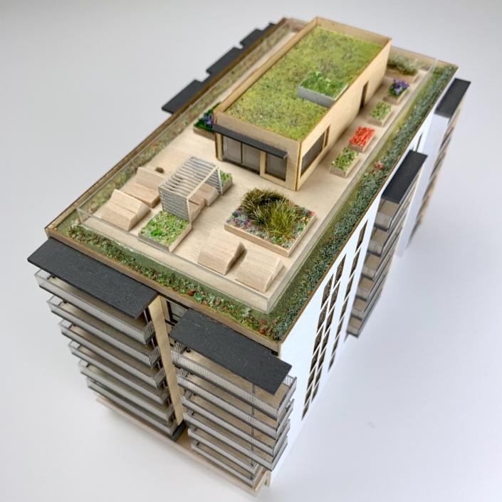 Borgen på Løren - arkitekturmodell